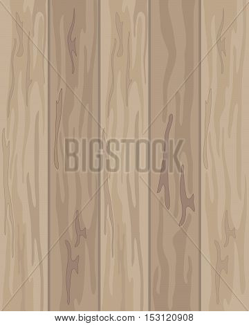 an illustration of wooden floor boards with patterns and lines in shades of brown