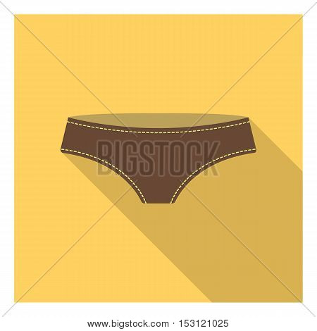 Underpants icon in flat style isolated on white background. Clothes symbol vector illustration.