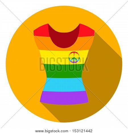 Dress icon in flat style isolated on white flat. Gay symbol vector illustration.