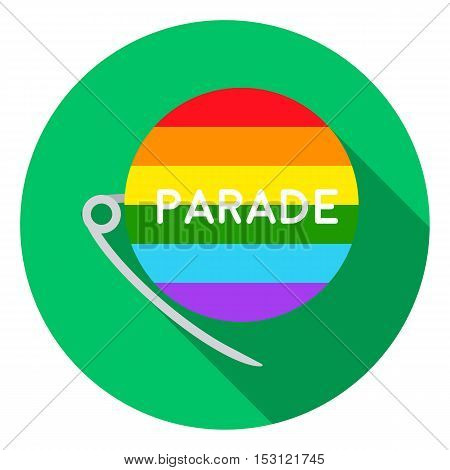 Gay parade icon in flat style isolated on white flat. Gay symbol vector illustration.