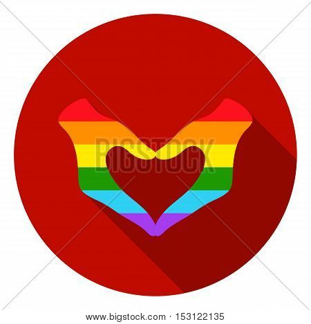 Hands icon in flat style isolated on white flat. Gay symbol vector illustration.