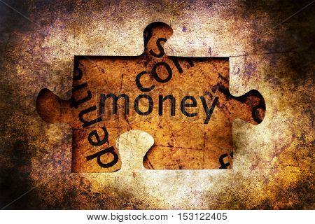 Money Puzzle Grunge Concept Concept