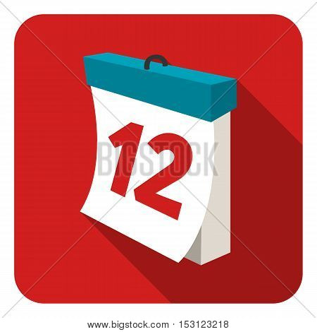 Calendar icon in flat style isolated on white background. Logistic symbol vector illustration.