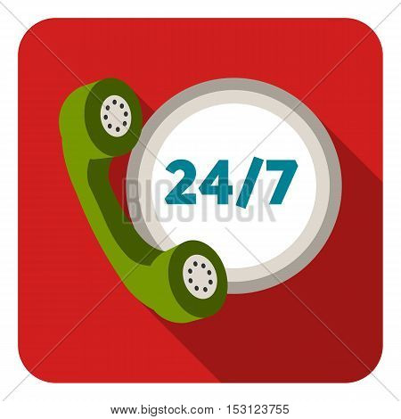 Around the clock icon in flat style isolated on white background. Logistic symbol vector illustration.