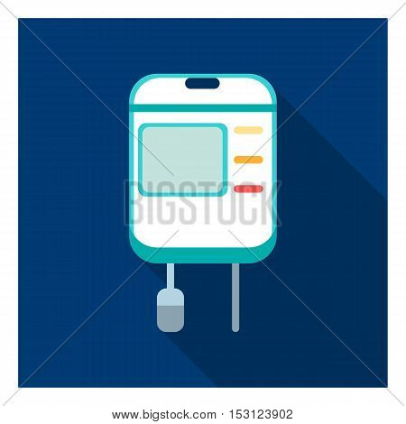 Drop counter icon in flat style isolated on white background. Medicine and hospital symbol vector illustration.
