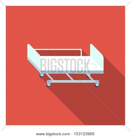 Hospital gurney icon in flat style isolated on white background. Medicine and hospital symbol vector illustration.