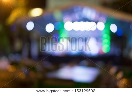 Blured lighhts from city night Thailand with abstract city night light evening bokeh