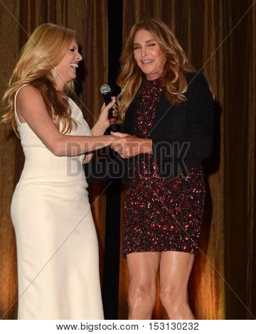 LOS ANGELES - OCT 22:  Candis Cayne, Caitlyn Jenner at the TransNation Miss Queen USA Pageant at Ace Hotel on October 22, 2016 in Los Angeles, CA
