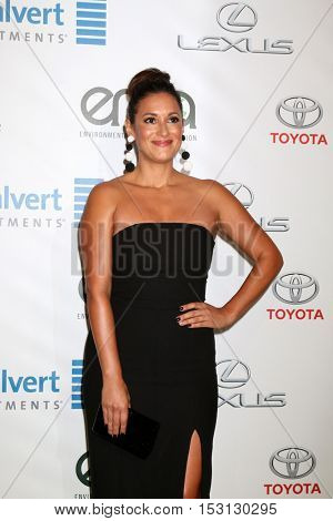 LOS ANGELES - OCT 22:  Angelique Cabral at the 26th Annual Environmental Media Awards at Warner Brothers Studio on October 22, 2016 in Burbank, CA