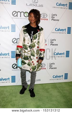 LOS ANGELES - OCT 22:  Jaden Smith at the 26th Annual Environmental Media Awards at Warner Brothers Studio on October 22, 2016 in Burbank, CA