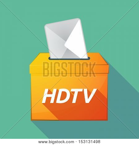 Long Shadow Ballot Box With    The Text Hdtv