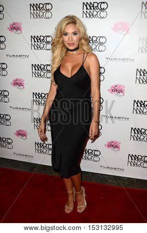 LOS ANGELES - OCT 21:  Farrah Abraham at the Marco Marco Fashion Show at Globe Theater on October 21, 2016 in Los Angeles, CA