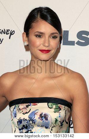 LOS ANGELES - OCT 21:  Nina Dobrev at the 2016 GLSEN Respect Awards at Beverly Wilshire Hotel on October 21, 2016 in Beverly Hills, CA