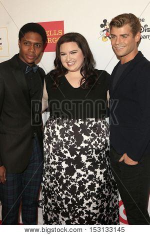 LOS ANGELES - OCT 21:  Ephraim Sykes, Maddie Baillio, Garrett Clayton at the 2016 GLSEN Respect Awards at Beverly Wilshire Hotel on October 21, 2016 in Beverly Hills, CA