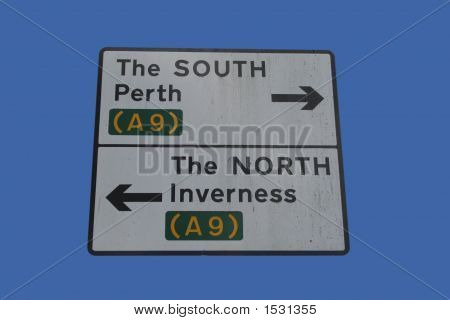 Road Sign On A9