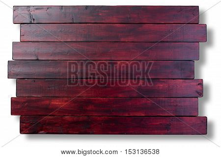 Mahogany Stained Staggered Wood Boards