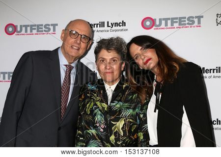 LOS ANGELES - OCT 23:  Jeffrey Tambor, Jill Soloway, Amy Landecker at the 2016 Outfest Legacy Awards at Vibiana on October 23, 2016 in Los Angeles, CA