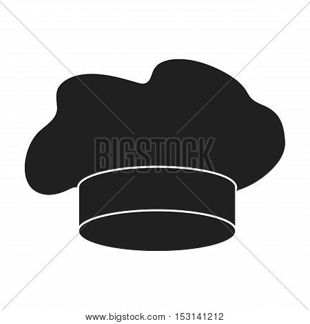 Chef's Hat icon in black style isolated on white background. Hats symbol vector illustration.