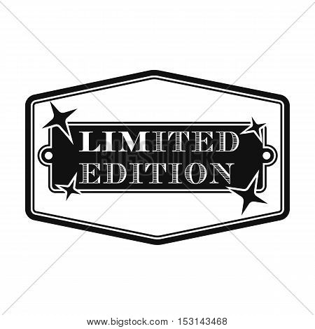 Limited edition icon in black style isolated on white background. Label symbol vector illustration.