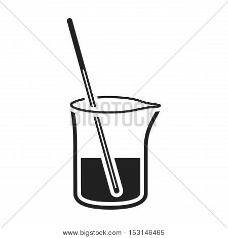 Mixture icon in black style isolated on white background. Medicine and hospital symbol vector illustration.