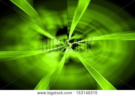 Abstract Green Twirl Background