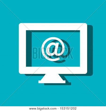 arroba symbol web button isolated icon vector illustration design