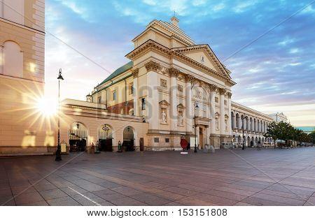 Old Town Stare Miasto Castle square St. Anne's Church Warsaw