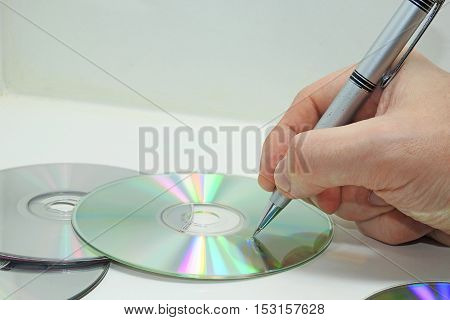 Compact Disk Abstract Composition.