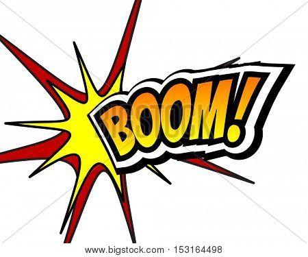 Boom! Comic Speech Bubble, Cartoon. Pop art Background Vector Illustration