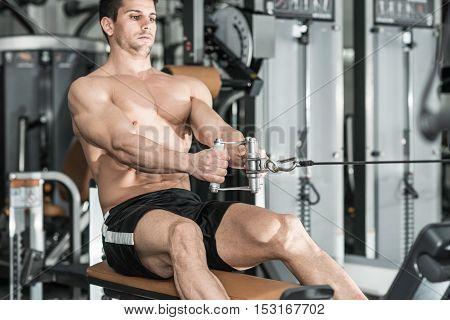 Rowing Machine Exercising