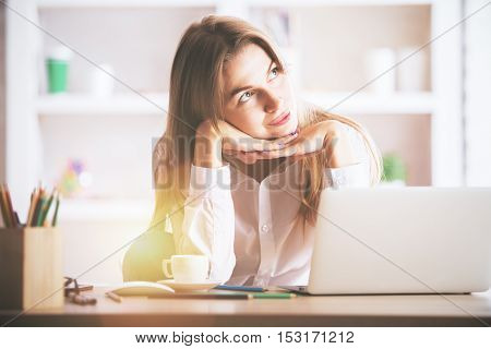 Charming Businesslady At Workplace