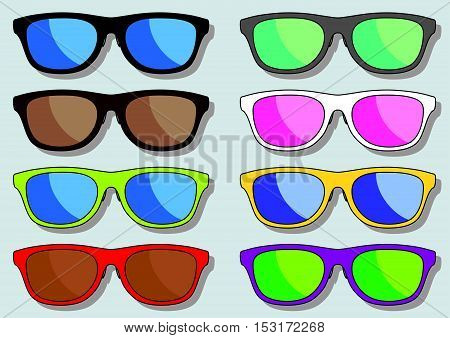 Some Modern Sunglasses Or Spectacles