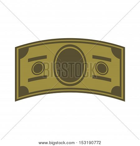 green money bill over white background. economy and financial item. vector illustration