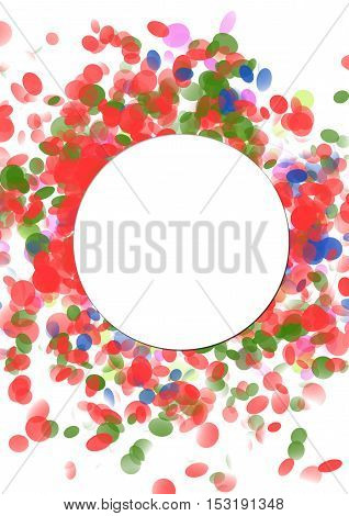 Confetti and serpentine explosion Colorful celebration template background with confetti. Ideal for greeting card print poster and signboard.