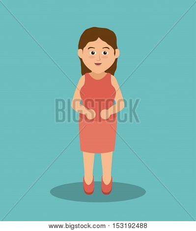beautiful mother family member vector illustration design
