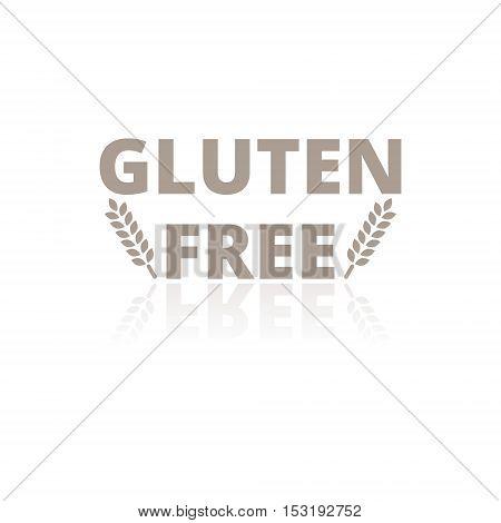 Simple Gluten free icon on white background