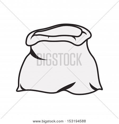 open sack icon over white background. vector illustration