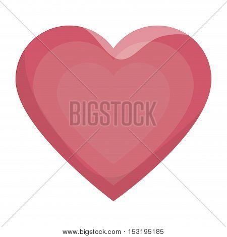 heart love silhouette icon vector illustration design