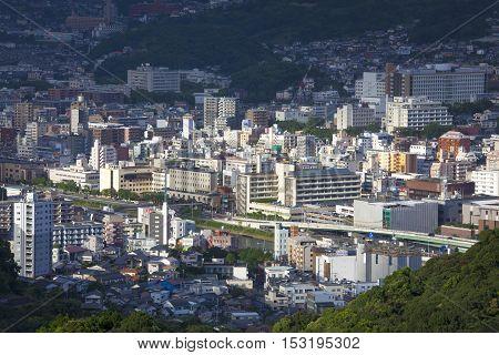 13 Sep. 2016 View Of Nagasaki City, Japan