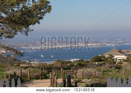 View of San Diego city from Point Loma, California
