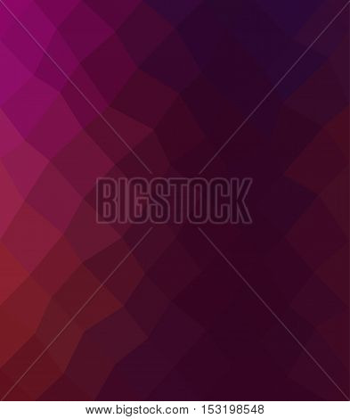 Multicolor purple and burgandy geometric rumpled background. Low poly style gradient illustration. Graphic background.