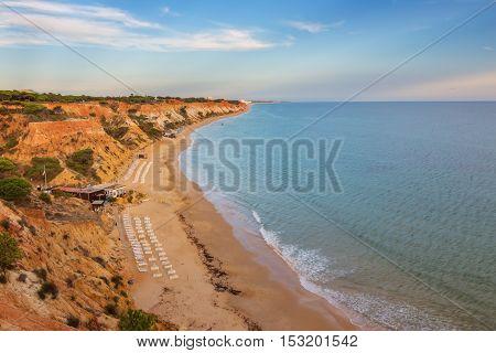 Falesia beach in Albufeira, Algarve region, Portugal