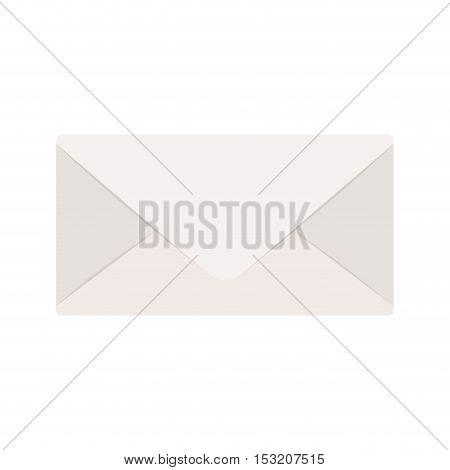 envelope mail icon over white background. vector illustration