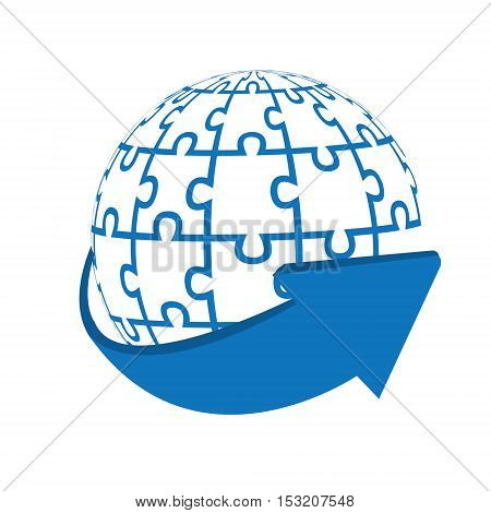 Bussiness globe logo -isolated on the white background