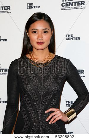 NEW YORK-APR 2: Model Jarah Mariano attends the 2015 Center Dinner at Cipriani Wall Street on April 2, 2015 in New York City.