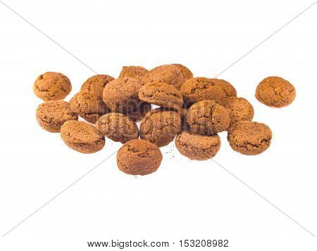 Bunch Of Pepernoten Cookies Seen From Above