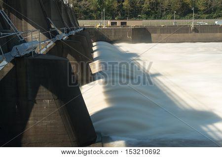 Morgantown Lock And Dam On River Monongahela