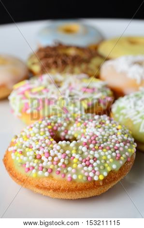 Decorated Mini Doughnut Cakes