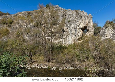 Rock formation The Elephant near town of Devin, Rhodope Mountains, Bulgaria
