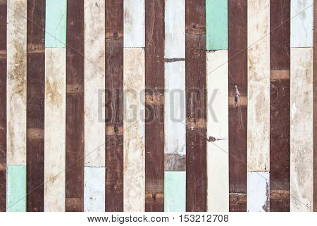 Wood plank brown texture background. wood all antique cracking furniture painted weathered white vintage peeling wall.
